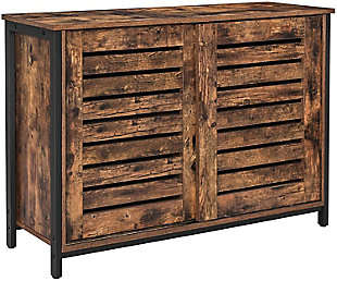 Vasagle Rustic Sideboard Cabinet with 2 Doors, , large