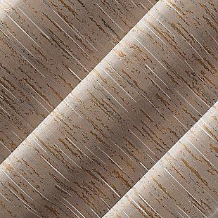 "Sun Zero Denver Distressed Stripe Thermal Extreme 100% Blackout 40"" x 96"" Pecan Grommet Curtain Panel, Pecan, large"