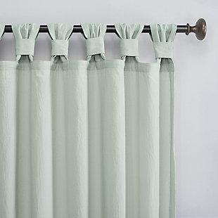 "Archaeo Washed Cotton Twist Tab 52"" x 84"" Seafoam Curtain, Seafoam, large"