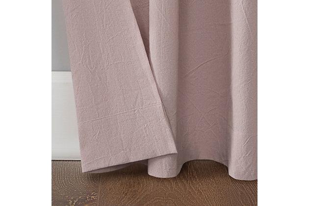 "Archaeo Washed Cotton Twist Tab 52"" x 95"" Rose Quartz Curtain, Rose, large"