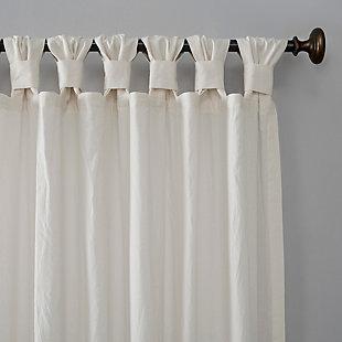 "Archaeo Washed Cotton Twist Tab 52"" x 84"" Ivory Curtain, Ivory, large"
