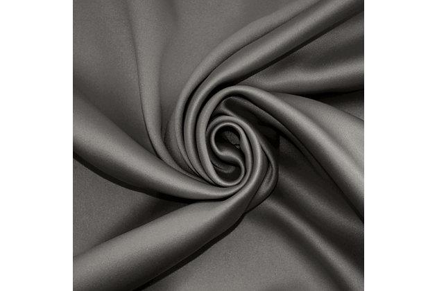 "Sun Zero Oslo Theater Grade Extreme 100% Blackout 52"" x 95"" Gray Rod Pocket Curtain Panel, Gray, large"