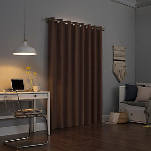 "Sun Zero Cameron Thermal Insulated 100% Blackout 50"" x 84"" Cedar Orange Grommet Curtain Panel, Cedar Orange, rollover"