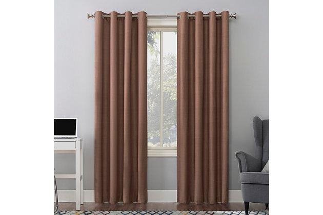 "Sun Zero Cameron Thermal Insulated 100% Blackout 50"" x 84"" Cedar Orange Grommet Curtain Panel, Cedar Orange, large"