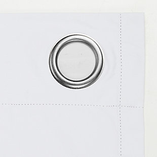 """Sun Zero Cameron Thermal Insulated 100% Blackout 50"""" x 63"""" White Grommet Curtain Panel, White, large"""