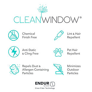 """Clean Window Crushed Texture Anti-Dust Sheer Linen Blend 52"""" x 63"""" White Curtain Panel, White, large"""