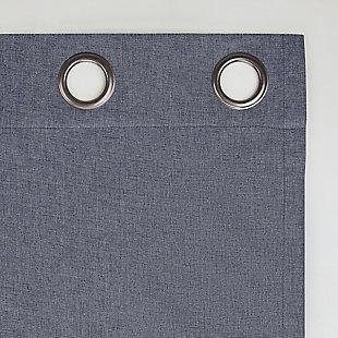 "Sun Zero Tresello Tonal Texture Draft Shield Fleece Insulated 100% Blackout 50"" x 63"" Navy Blue Grommet Curtain Panel, Navy Blue, large"