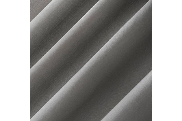"No. 918 Ruthie Frayed Edge Semi-Sheer 40"" x 63"" Gray Rod Pocket Curtain Panel, Gray, large"