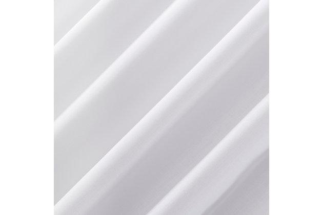 """No. 918 Ruthie Frayed Edge Semi-Sheer 40"""" x 63"""" White Rod Pocket Curtain Panel, White, large"""