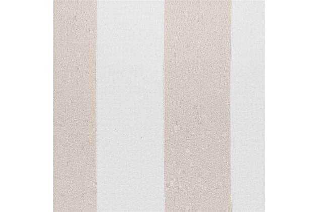 "Sun Zero Valencia Cabana Stripe Indoor/Outdoor UV Protectant Room Darkening 54"" x 84"" Khaki Grommet Curtain Panel, Khaki, large"