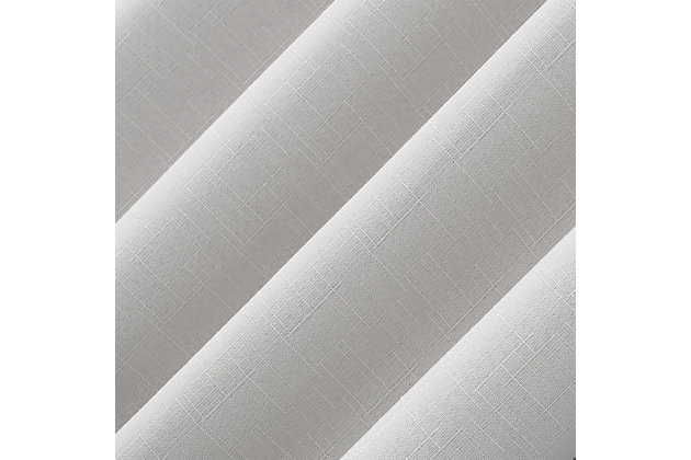 "Sun Zero Cayden Grid Texture Draft Shield Fleece Insulated 100% Blackout 50"" x 96"" Pearl Grommet Curtain Panel, Pearl, large"