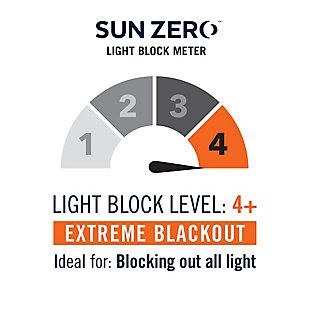 "Sun Zero Kline Burlap Weave Thermal Extreme 100% Blackout 52"" x 96"" Navy/Denim Blue Grommet Curtain Panel, Navy/Denim, large"