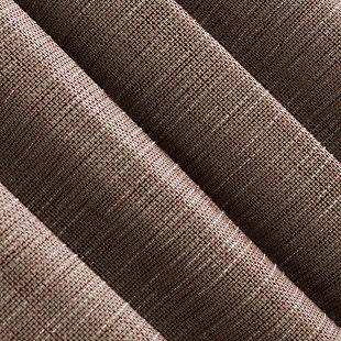 """Sun Zero Kline Burlap Weave Thermal Extreme 100% Blackout 52"""" x 84"""" Deep Red/Linen Grommet Curtain Panel, Russet/Linen, large"""