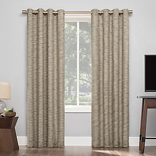 "Sun Zero Kamali Textured Strie Thermal Extreme 100% Blackout 50"" x 84"" Dune Grommet Curtain Panel, Dune, rollover"
