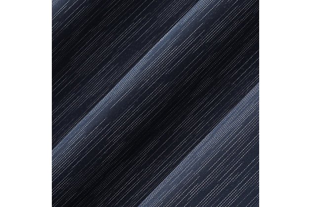 "Sun Zero Damon Pinstripe Stitch Thermal Extreme 100% Blackout 40"" x 96"" Navy Grommet Curtain Panel, Navy, large"