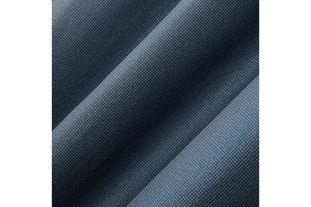"No. 918 Lindstrom Textured Draft Shield Fleece Insulated Room Darkening 40"" x 84"" Blue Grommet Curtain Panel, Blue, large"