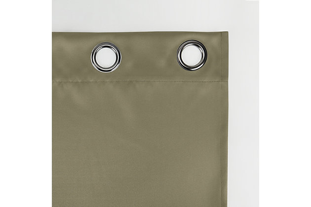 """Sun Zero Oslo Theater Grade Extreme 100% Blackout 52"""" x 95"""" Olive Green Grommet Curtain Panel, Olive Green, large"""