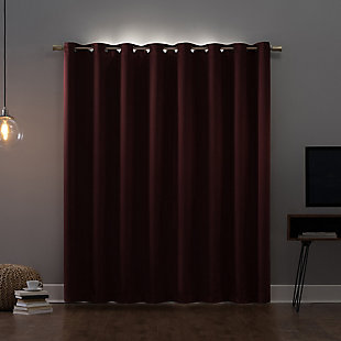 "Sun Zero Oslo Theater Grade Extreme 100% Blackout 52"" x 84"" Wine Grommet Curtain Panel, Wine, rollover"