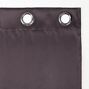 """Sun Zero Oslo Theater Grade Extreme 100% Blackout 52"""" x 108"""" Fig Grommet Curtain Panel, Fig, large"""