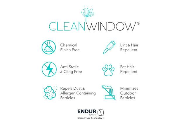 """Clean Window Twill Stripe Anti-Dust Linen Blend Sheer 52"""" x 95"""" Mocha/Linen Curtain Panel, Mocha/Linen, large"""