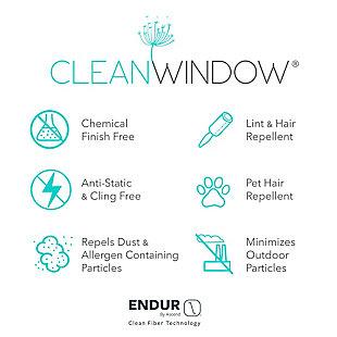 "Clean Window Basketweave Anti-Dust Semi-Sheer 50"" x 96"" Beige Curtain Panel, Beige, large"