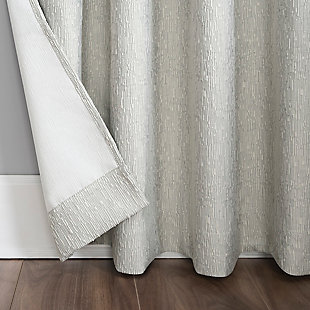 "Sun Zero Noir Dimensional Thermal Extreme 100% Blackout 52"" x 84"" Cream White Grommet Curtain Panel, Cream White, large"