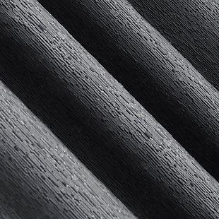 "Sun Zero Noir Dimensional Thermal Extreme 100% Blackout 52"" x 96"" Charcoal Gray Grommet Curtain Panel, Charcoal, large"