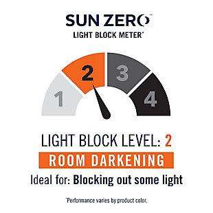 "Sun Zero Reed Woven Indoor/Outdoor UV Protectant Room Darkening 52"" x 108"" Gray Grommet Curtain Panel, Gray, large"