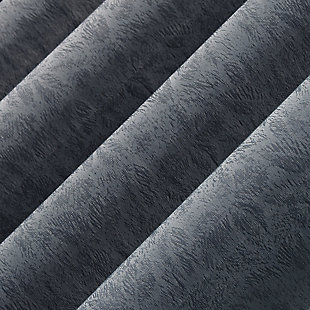 "Clean Window Subtle Foliage Recycled Fiber Sheer 50"" x 96"" Denim Blue Curtain Panel, Denim Blue, large"