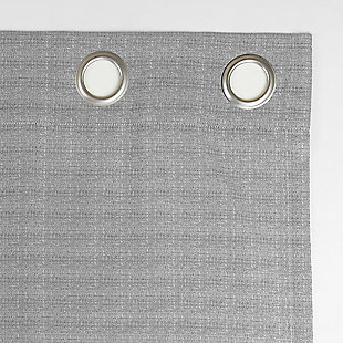 """Clean Window Strie Texture Recycled Fiber Semi-Sheer 50"""" x 84"""" Silver Gray Grommet Curtain Panel, Silver Gray, large"""