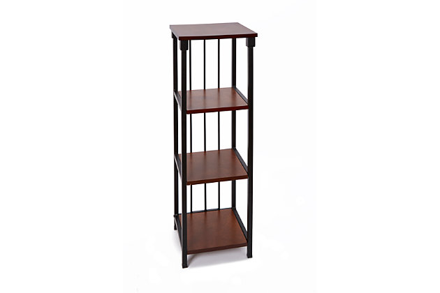 Mixed Material 4-Tier Floor Shelf, , large