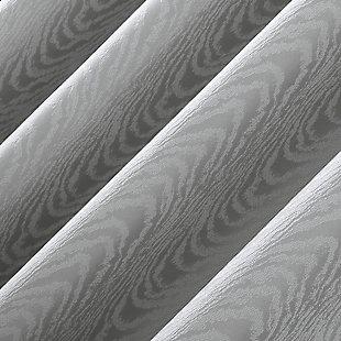"Clean Window Subtle Woodgrain Recycled Fiber Semi-Sheer 50"" x 84"" Gray Grommet Curtain Panel, Gray, large"