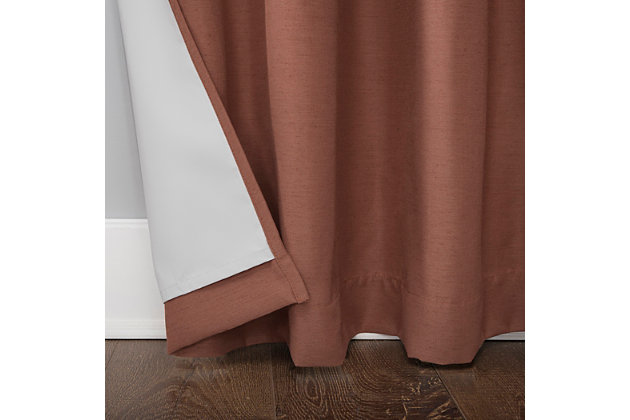 "Archaeo Linen Blend Blackout Grommet 52"" x 63"" Cedar Top Curtain, Cedar, large"