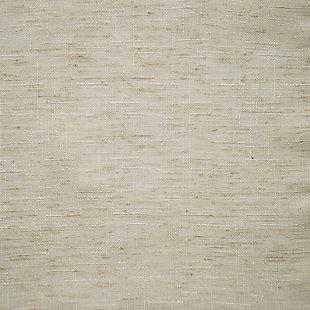"No. 918 Amalfi Linen Blend Textured Semi-Sheer 54"" x 95"" Ivory Rod Pocket Curtain Panel, Ivory, large"