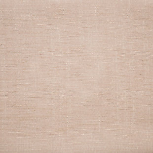"No. 918 Amalfi Linen Blend Textured Semi-Sheer 54"" x 95"" Blush Pink Rod Pocket Curtain Panel, Blush, large"