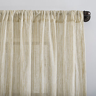 """Archaeo Bamboo Stripe Cotton Sheer 50"""" x 84"""" Linen Curtain, , large"""