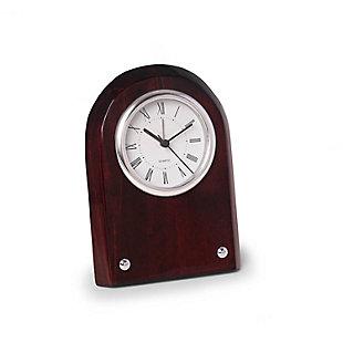 Nice Mahogany Desk Clock, , large