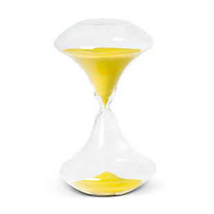 Jordan 45min Art Deco Sand Timer, Neon Yellow, large