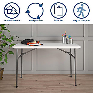 COSCO 4' Straight Folding Utility Table, , rollover