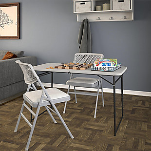 COSCO 4' Fold-in-Half Portable Utility Table, , large