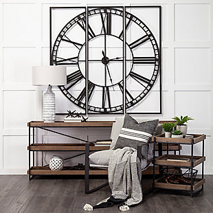 """Mercana Norwood 60"""" Square Oversized Industrial Wall Clock, , rollover"""