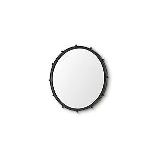 Mercana Elena I Small Black Wall Mirror, Black, large