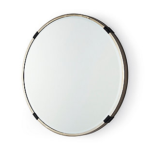 """Mercana Melissa 23"""" Small Round Gold Metal Wall Mirror, , large"""