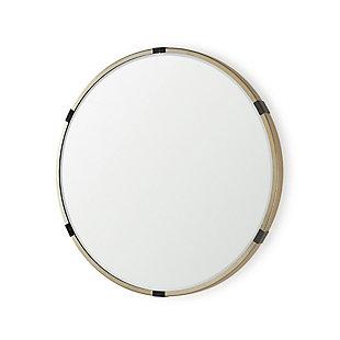 "Mercana Melissa 28.5"" Medium Round Gold Metal Wall Mirror, , large"