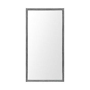 Mercana Gray 20x40 Faux Wood Frame Bathroom Vanity Mirror, Gray, large