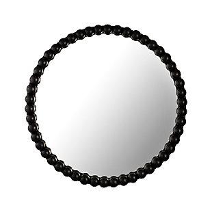 Baria Black Wooden Mirror, , large
