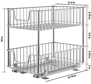 TRINITY 2-Tier Sliding Wire Drawer, , large