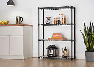 TRINITY 4-Tier Wire Shelving with Liners, , rollover