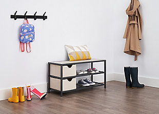 TRINITY Shoe Bench with Baskets, , rollover