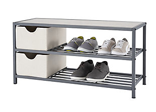 TRINITY Shoe Bench with Baskets, , large